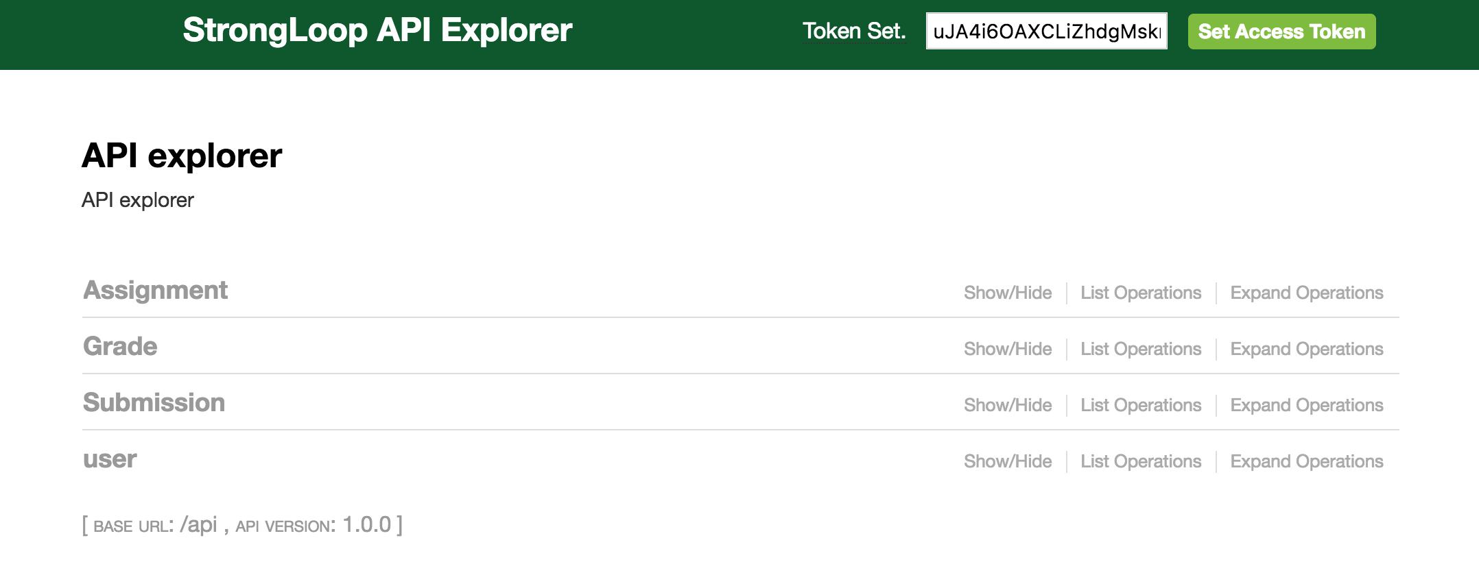 Strongloop API Explorer